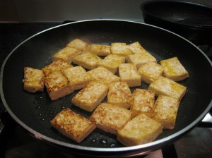 Pan Frying Tofu