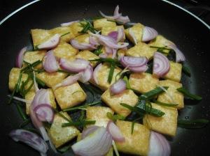 Tofu with Onions