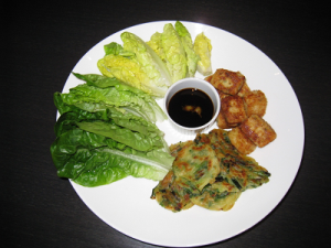 Pajeon Pancakes and Deep Fried Tofu