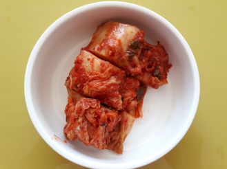 I made Kimchi soup today with one month old Kimchi.
